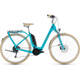 Cube Elly Ride Hybrid 400 - Vélo de ville électrique - Easy Entry bleu/turquoise